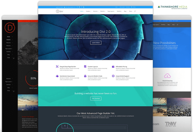 divi theme web design