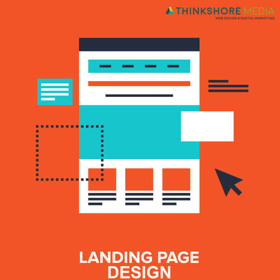 landing page design graphic